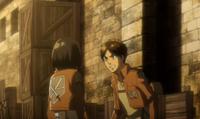 Eren refuses mikasa