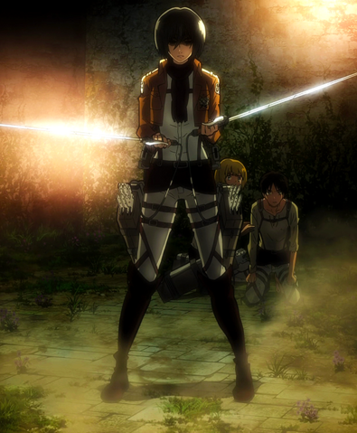 File:Mikasa threatens the soldiers.png