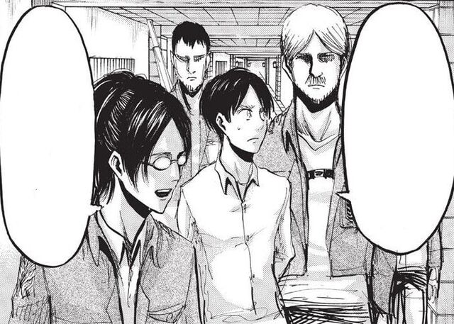 File:Hange and Mike escort Eren to the courtroom.jpg