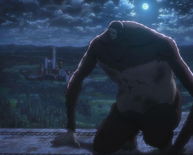 File:The Beast Titan atop Wall Rose.jpg
