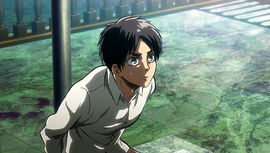 Eren tied to a pole