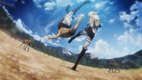 Annie kicks Eren