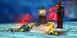 Hotsuma saves the Aragane Twins