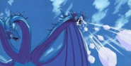 Grandora's ice chunks attack