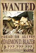 Daemon D. Blaze's Wanted Poster