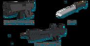 Submachine Gun-Knife-Assault Rifle