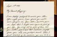 Letter To Geoffrey Part 1