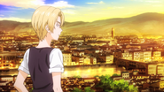Takumi goes back to Italy (anime)