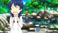 Megumi and Soma lakeside fishing (anime)