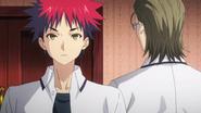Etsuya threatens Sōma (anime)