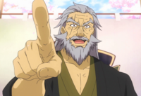 Senzaemon points his finger