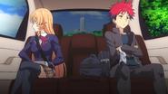 Soma rides with Erina (anime)