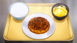 Yukihira-brand Kitchen-Clearing Mackarel Hamburg Set (anime)