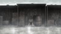 Akira living in the slums (anime)