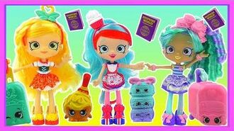 Shopkins Season 8 TALKING Shoppie Dolls Spaghetti Sue ➕ Macy Macaron ➕ Jessicake World Vacation