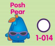 Posh pear collectors poster artwork