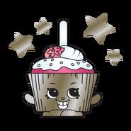 Metallic Cupcake Chic Charm art