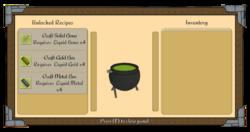 Cauldron menu