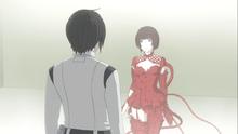 Placenta Shizuka show her new 'dress' to Nagate