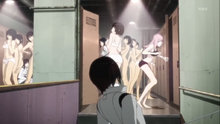Nagate unintentionally entered the women locker room