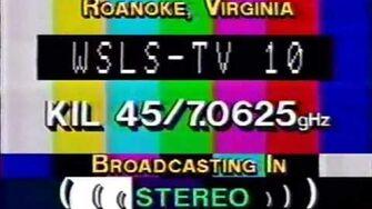 WSLS-TV 10, Roanoke VA Sign-Off and Sign-On 1993