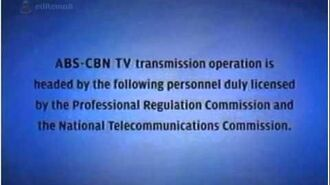 ABS-CBN - Sign off Version 2 (2009)