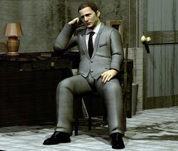 Kaufmann sitting