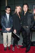 Mary Elizabeth McGlynn, Akira Yamaoka and Hideyuki Shin at the premiere of Silent Hill - Revelation