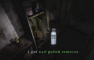 Heather picks up Nail Polish Remover