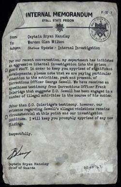 Internal Memorandum (Guard Investigation)