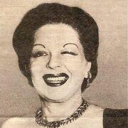 "Clara Bow winking, circa 1950. Rare image of an ""older"" Clara around age 45."
