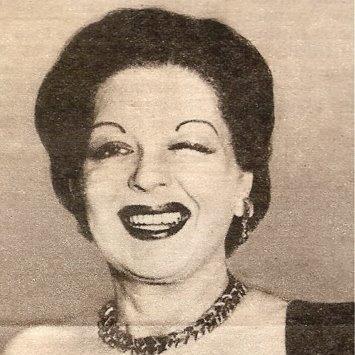 "File:Clara Bow winking, circa 1950. Rare image of an ""older"" Clara around age 45..jpg"