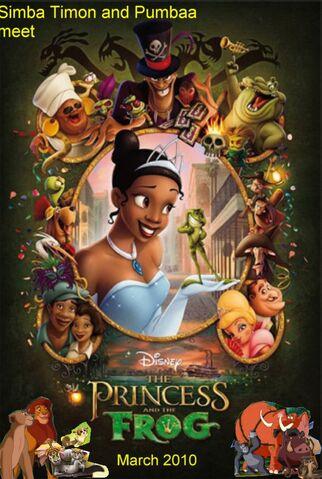 File:Simba, Timon, and Pumbaa Meets The Princess and the Frog.jpg