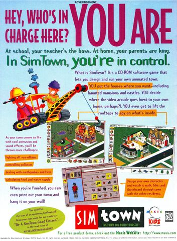 File:SimTown game print ad NickMag June July 1996.jpg