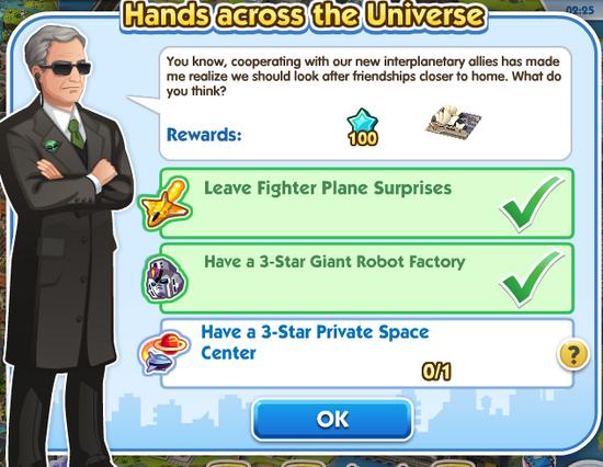 Quest alien-hands across the universe