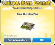 Dino Skeleton Park Dialog