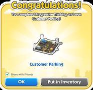 Customer Parking Dialog