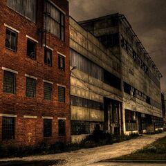 Closed factory. Economic crisis of 3509