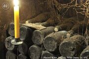Passed WIne in Tomb Chamber being lighted by candle