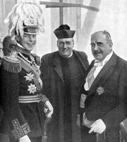 Pontic Picture of the Embassy Negotiations, Wilhelm Alexander on the Left