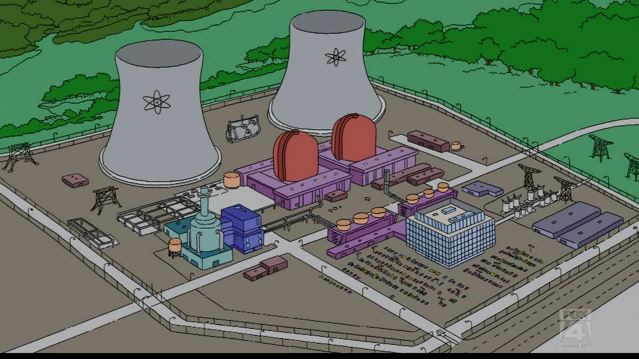 Les personnages des Simpson : la centrale nucléaire
