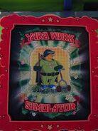 The Simpsons Ride Yard Work Simulator Poster