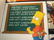 The First Amendment does not cover burping.
