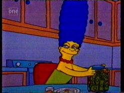 Marge's money jar
