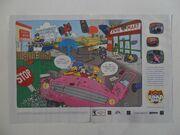 The Simpsons Road Rage print ad
