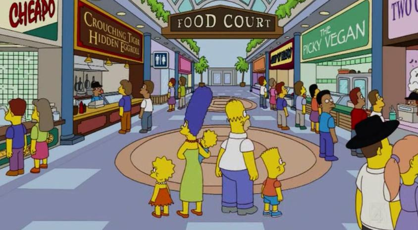 Food Court on old coach cartoon