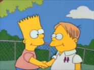 Martin and bart shake hands