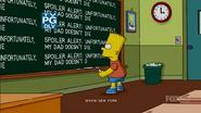 Clown in the Dumps chalkboard gag