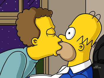 simpsons ned Gay porn