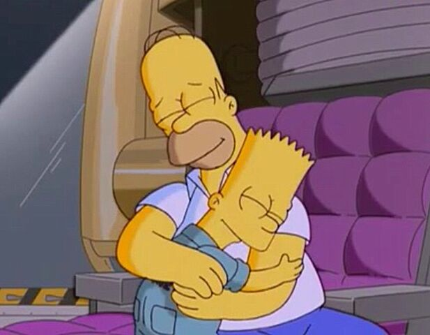File:Homer and Bart embrace .jpg